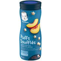 SOUFFLÉS GERBER® Saveur de pêche, collations pour bébés, 42 g