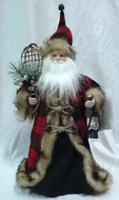"Holiday time 16"" Decorative Cone Santa"