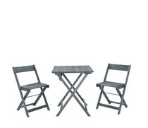 Holden Gray Three Piece Square Table Set