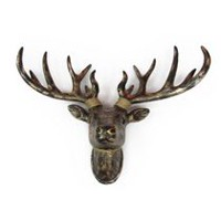 Holiday Time Bronze Deer Head Wall Décor