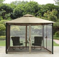 hometrends Canal Drive Cabin Style Gazebo with Adjustable Side Awning