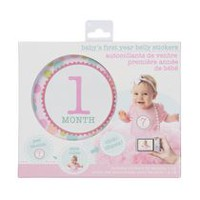 Stepping Stones Baby's First Year Girl Belly Sticker