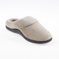 ISOspa by isotoner Women's Clog Slippers Taupe Medium