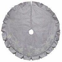 Holiday Time Linen Christmas Tree Skirt