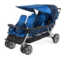 Foundations 6 Passenger Stroller Blue