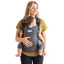 MOBY - Cloud Hybrid Carrier - Baby Carrier Adapt Infant to Toddler Carrier with Breathable Mesh - Ergonomic - One Size - Charcoal/Black