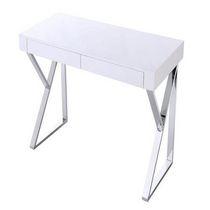 office desk maca in white /chrome