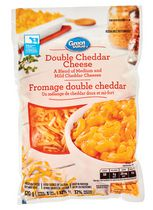 Fromage râpé double cheddarGreatValue