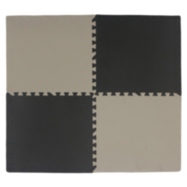Black and Taupe Connect-A-Mat 4 Pack