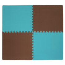 Brown and Blue Connect-A-Mat 4 Pack