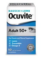 Bausch & Lomb Ocuvite Adult 50+ Eye Vitamin and Mineral Supplement 50 Soft Gel Capsules