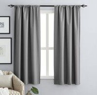 hometrends Kelly Room Darkening Panel Pewter 63""