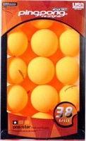 Ping Pong Orange Table Tennis Balls - Pack of 38