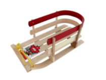 JAB Recreational Wooden baby sled