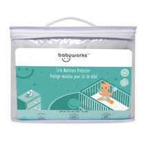Baby Works™ Quilted & Fitted Bamboo Crib Mattress Protector