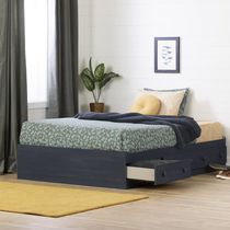 South Shore Summer Breeze Collection Full Size Mates Bed Blue
