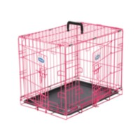 "Petmate puppy 2-door training retreat 24"". Pink"