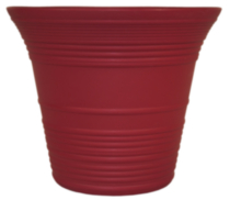 "7"" Sedona Self-Watering Planter Warm Red"