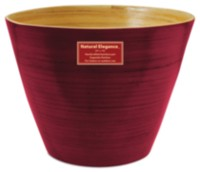 "12"" Natural Elegance Bamboo Planter Union Red"