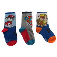 PAW Patrol Infant Boys' Crew Socks; Pack of 3 5-8