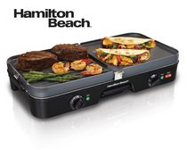 Hamilton Beach® 3-in-1 Reversible Grill/Griddle