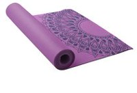 Lotus Printed Yoga Mat Purple