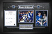Frameworth Sports Toronto Maple Leafs - Framed 8x10 Score sheet Collage 1967 Stanley Cup Champions
