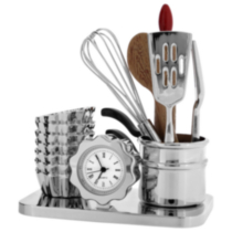 Chef Set Collectible Desktop Mini Clock (C1295S)