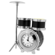 Drum Set Collectible Desktop Mini Clock (C10BK)