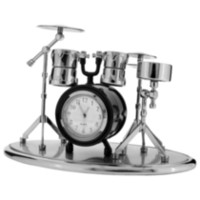 Drum Set Collectible Desktop Mini Clock (C223BK)