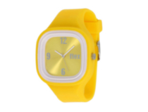 Flex Watch - Supports causes with bright interchangeable colors. Yellow