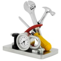 Handyman's Tool Set Collectible Desktop Mini Clock (C1569M)
