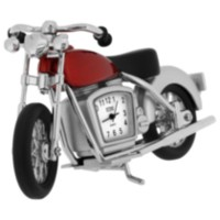 Motorcycle Collectible Desktop Mini Clock (C1046RD)