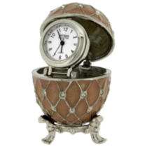 Ornate Egg Collectible Desktop Mini Clock (C1403PK)