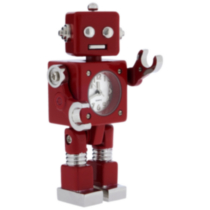 Retro Sci-Fi Robot Collectible Desktop Mini Clock (C1330RD)