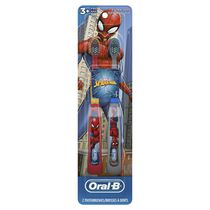 Oral-B Kid's Manual Toothbrush featuring Marvel's Spiderman, Soft Bristles, for Children and Toddlers 3+