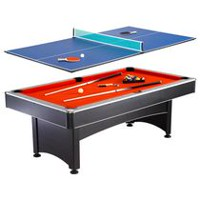 Table de billard Maverick (2,13 m) et jeu de tennis de table