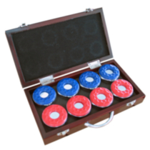 Hathaway Games Shuffleboard Pucks w/ Case - Set of 8