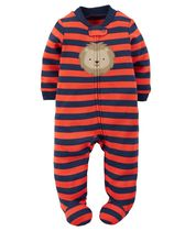 Child of Mine made by Carter's Newborn Boys' Lion Printed Sleep & Play Outfit 0-3