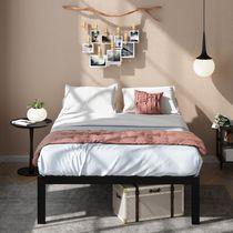 "ZINUS Lorrick 18"" Quick Snap Metal Platform Bed, No Box Spring Needed,"