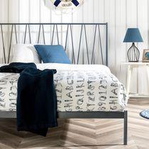 Zinus Olga Modern 41 Inch Metal Platform Bed With Headboard / Metal Slat Support / Mattress Foundation / Maximum Under-bed Storage