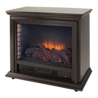 Pleasant Hearth Sheridan Mobile Fireplace Cherry