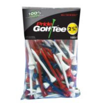 "Pride Golf Tees 2 3/4"" - Red, Blue, White"