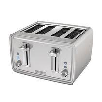 Black + Decker 4-Slice Extra Wide Toaster, in Stainless Steel