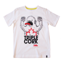 "TRIPLE CORK by MARK McMORRIS Boys Graphic Tee ""Yeti Scream"" Design XL"