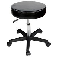 Master Massage Beauty Rolling Swivel Hydraulic Massage Stool Cream Luster Color Black