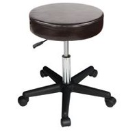 Master Massage Beauty Rolling Swivel Hydraulic Massage Stool Cream Luster Color Brown