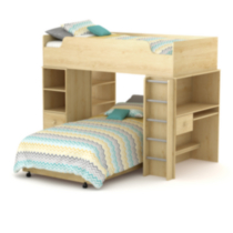 "South Shore Logik Twin Loft Bed (39"") Maple"