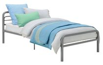 DHP Silver Metal Bed