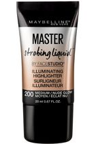 Surligneur illuminateur Facestudio Master Strobing Liquid de Maybelline New York Medium - Nude Glow